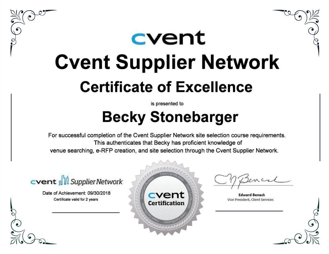 Cvent Certificate