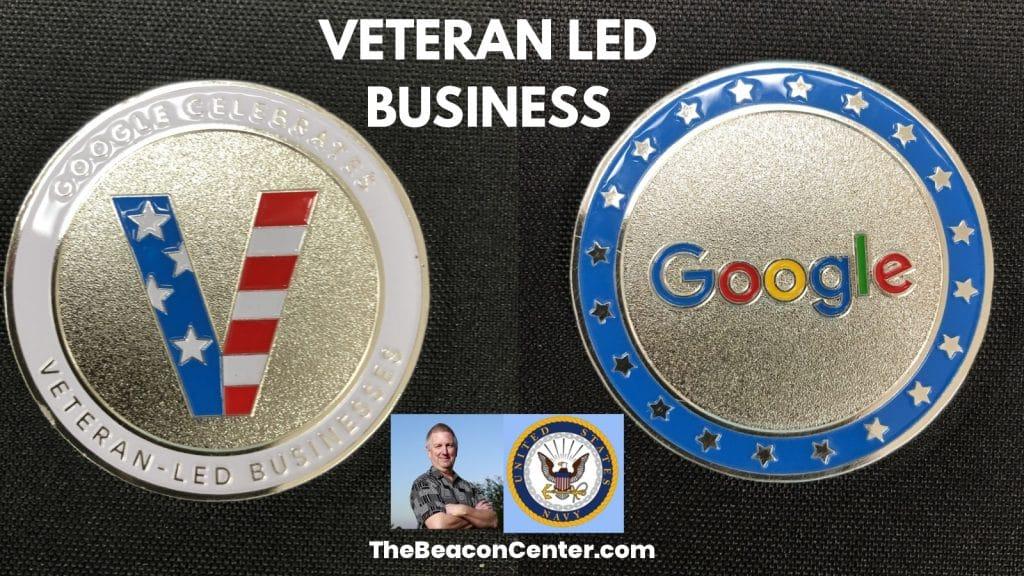 Veteran-Led Business Google Coin Photo