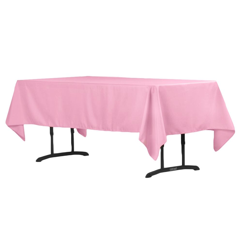 pink table linen