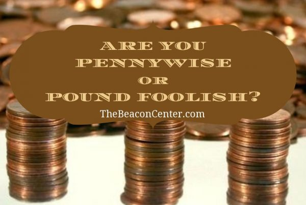 Penny wise and pound foolish photo
