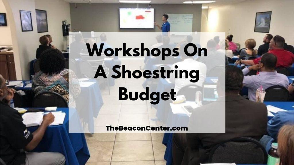 Workshops on shoestring budget photo